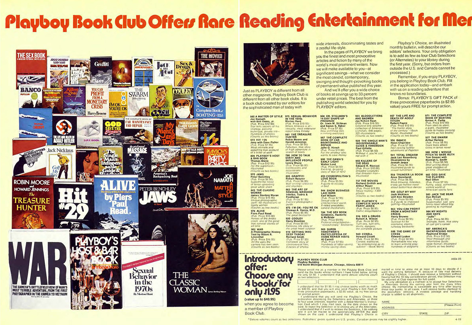 1974 playboy book club