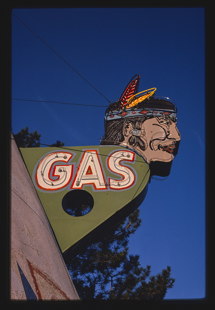 Gas sign - 1980