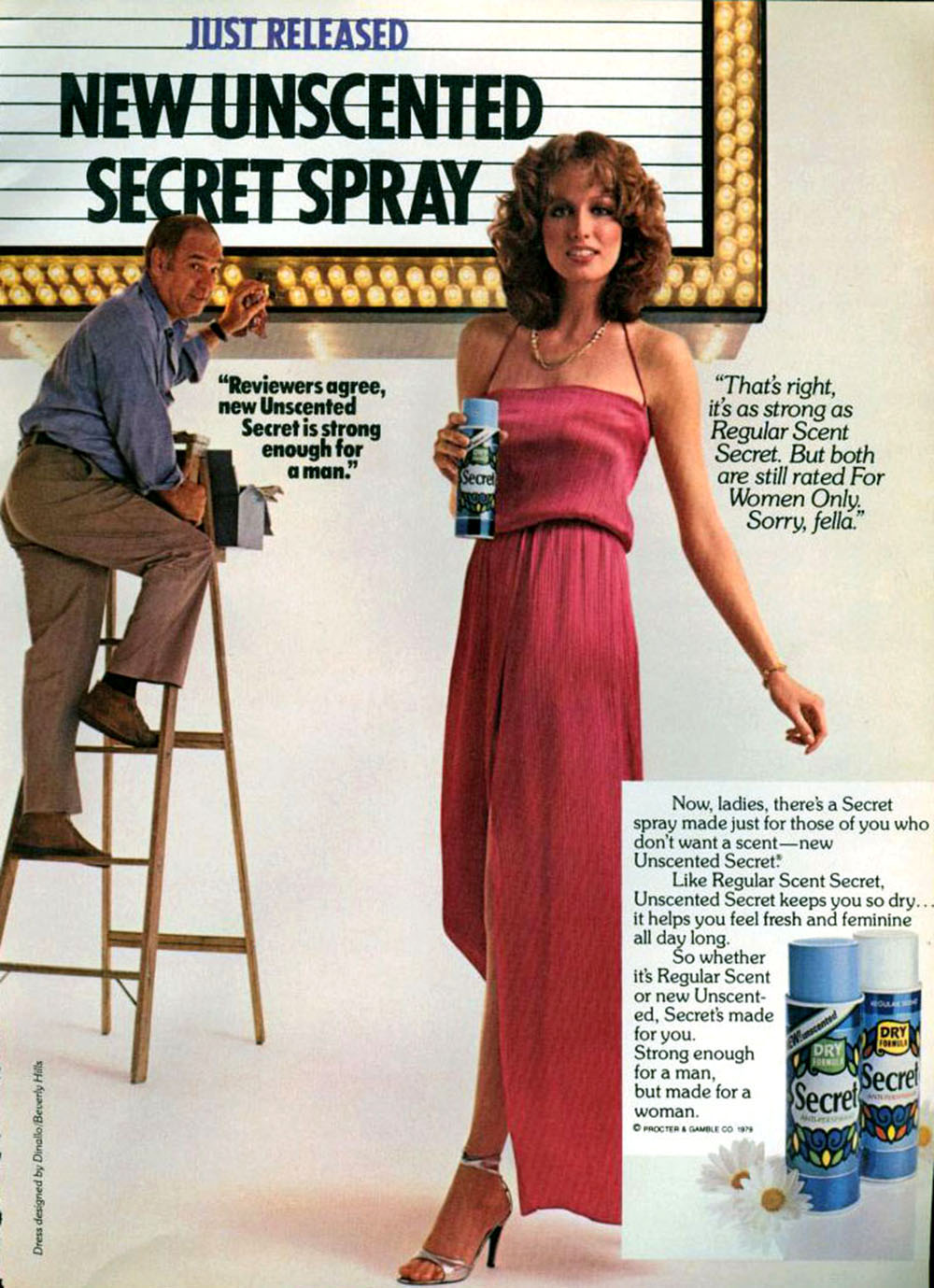 37 New Unscented Secret Spray Advertisement Flashbak