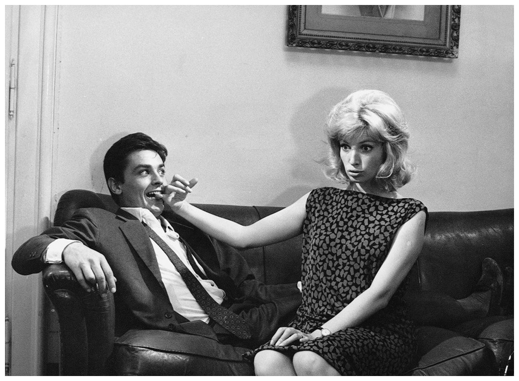 Alain Delon and Monica Vitti in L'Eclipse, 1962.