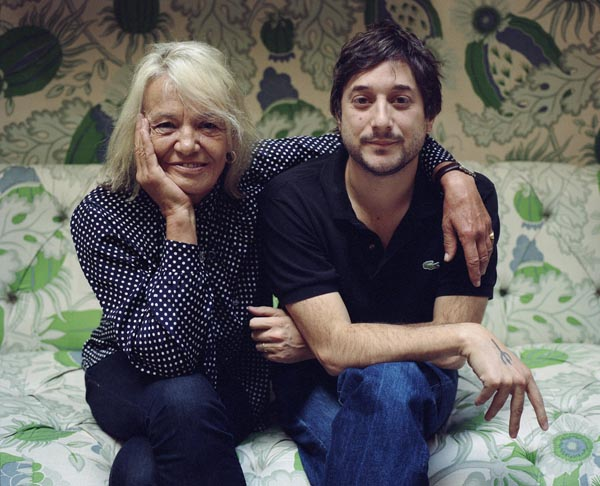 Anita Pallenberg + film-maker Harmony Korine, 2008. Photo- Eva Vermandel