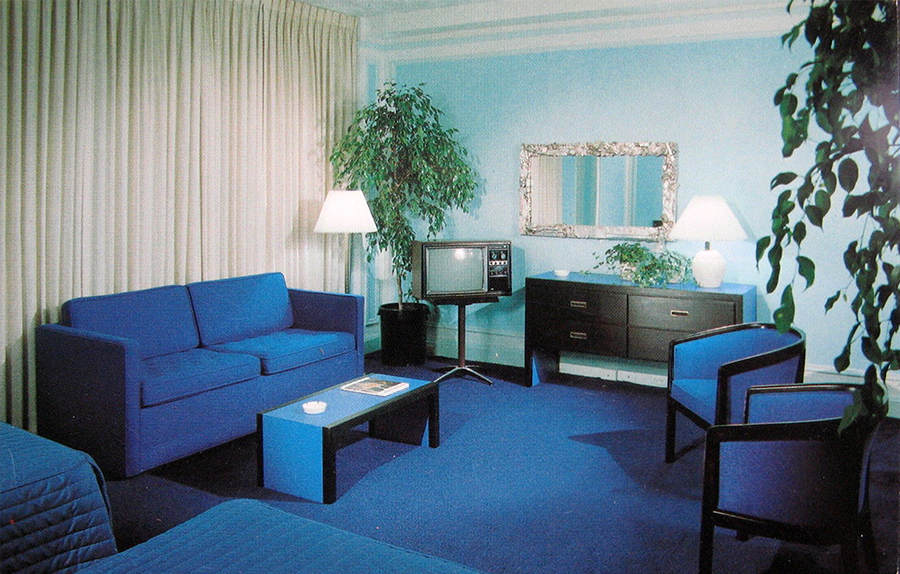 A look inside hotel motel rooms of the 1950s 70s for Design hotel usa