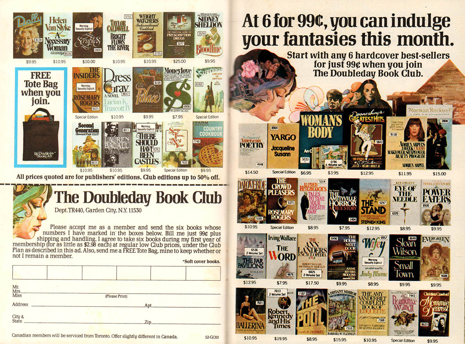 Doubleday book club advert vintage