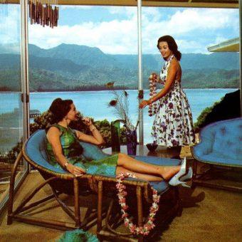 Mid-Century Hotel Postcard Models Living The American Dream