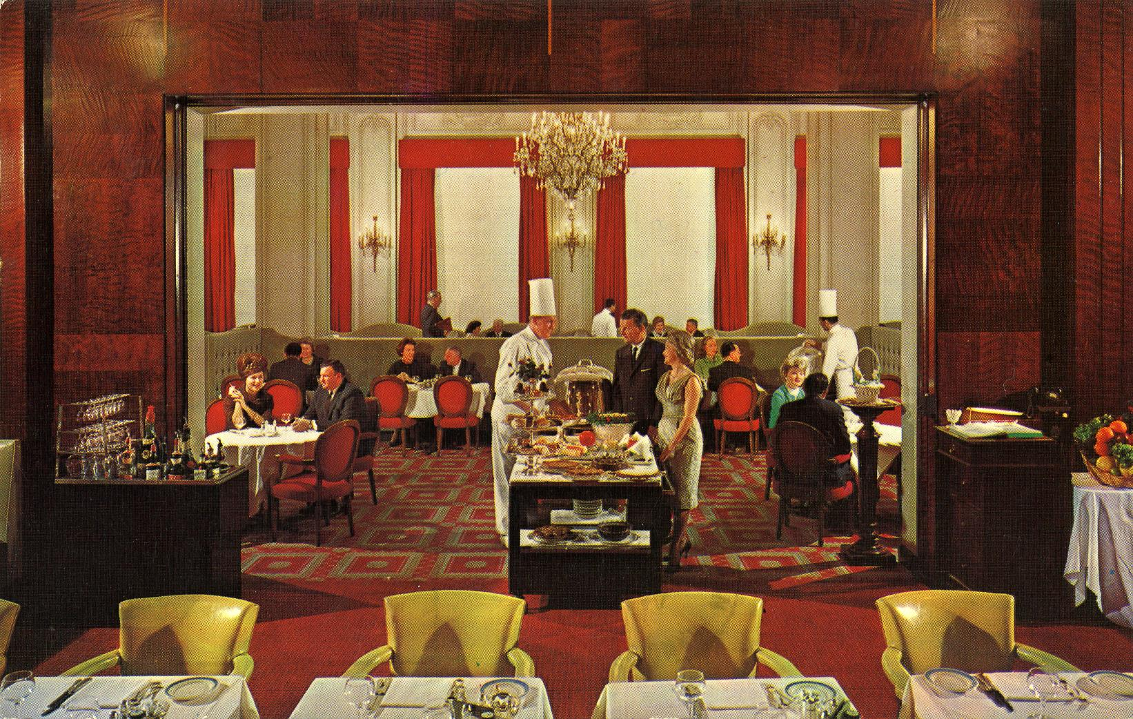 The French Room Clift Hotel San Francisco CA postmarked 1969