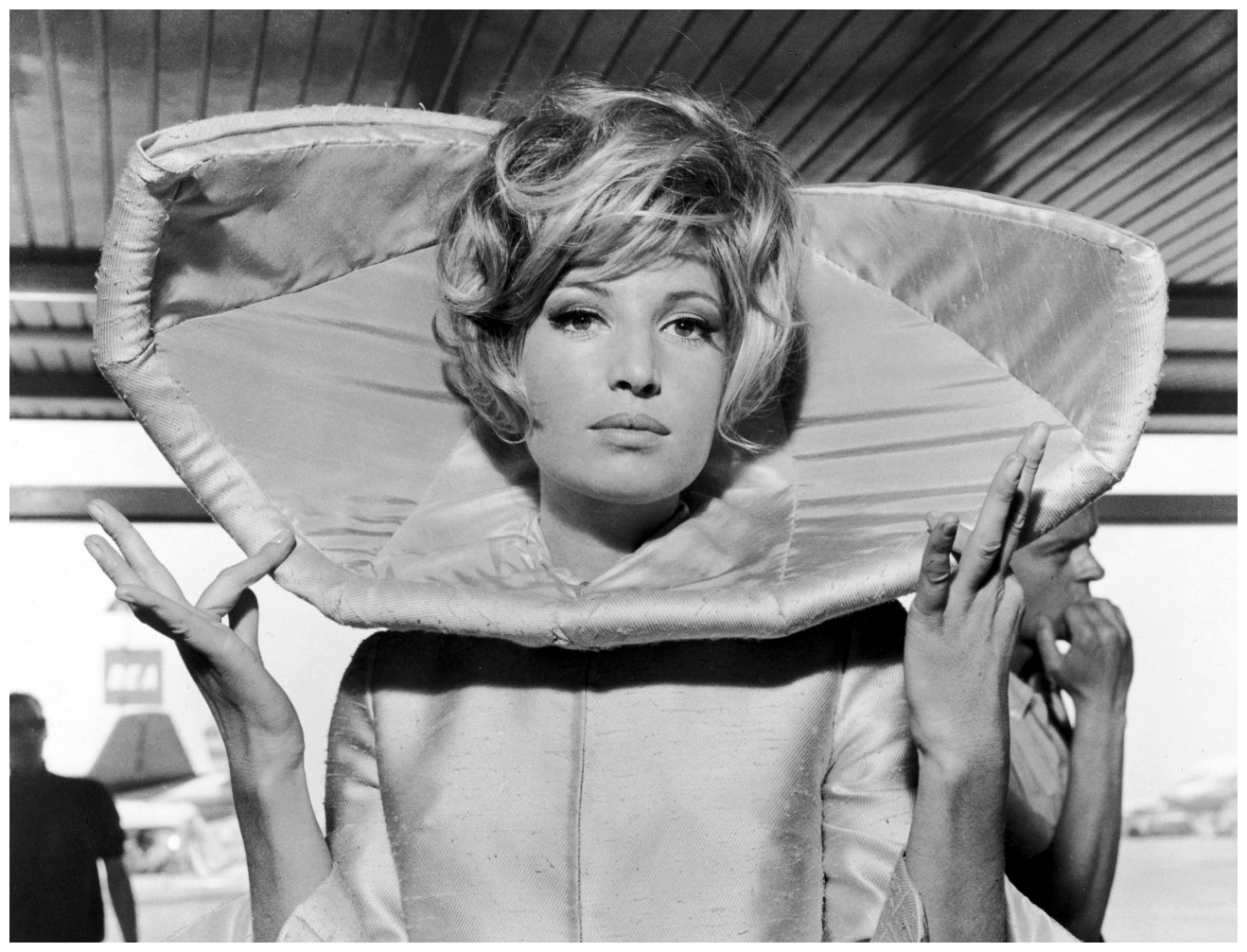 Monica Vitti in a scene from the film 'Modesty Blaise', 1966.