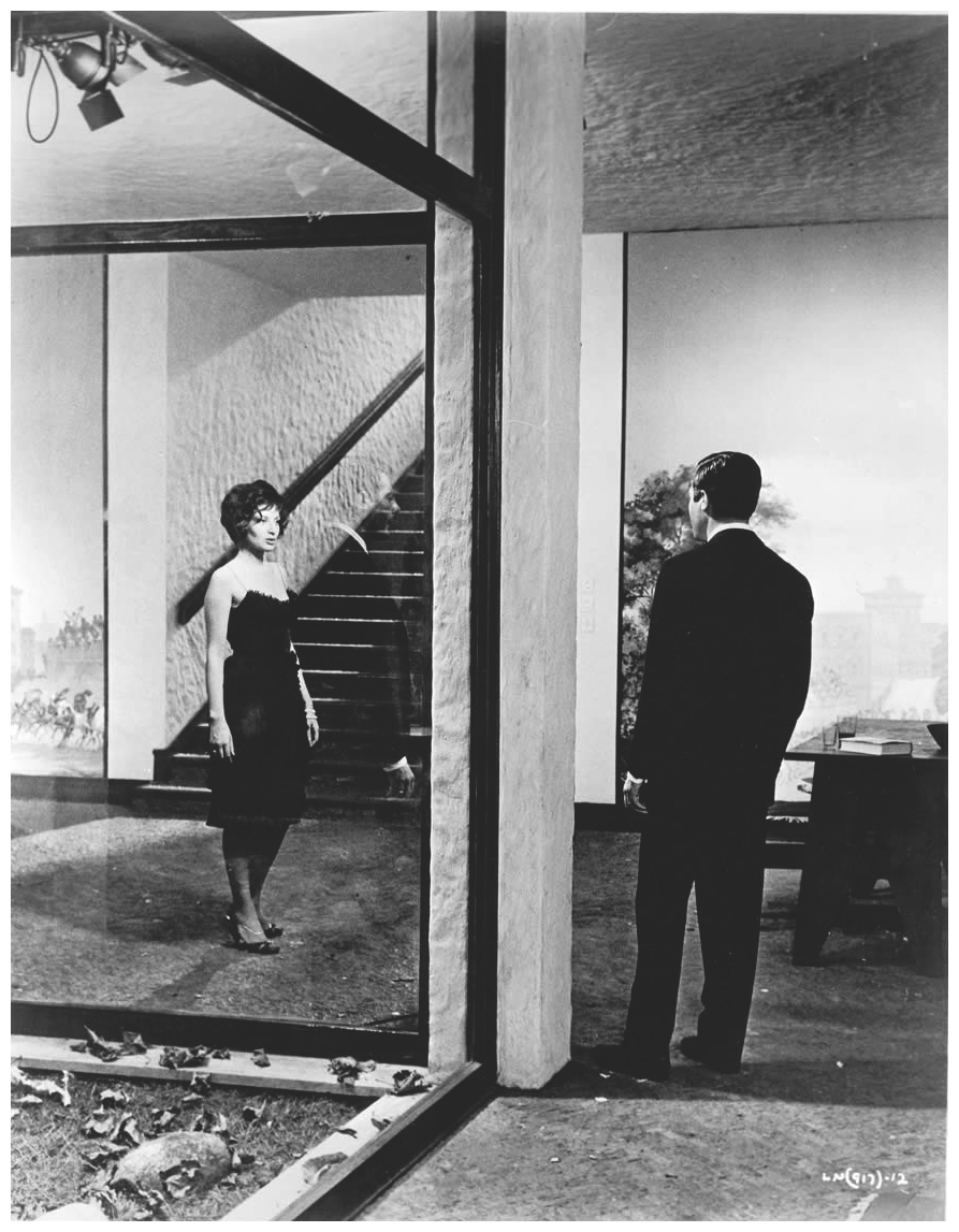 "Monica Vitti with Marcello Mastroianni in ""La Notte"" directed by Michelangelo Antonioni 1961"
