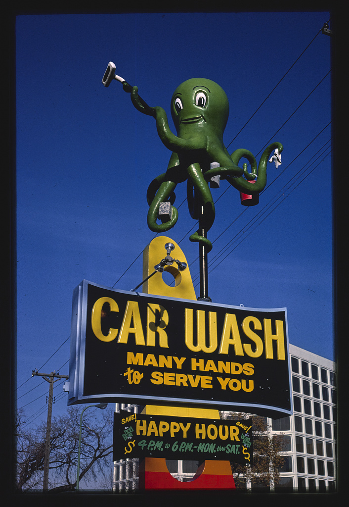 Octopus Car Wash 1981