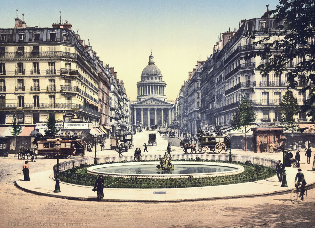 Pantheon and the Rue Soufflot, Paris