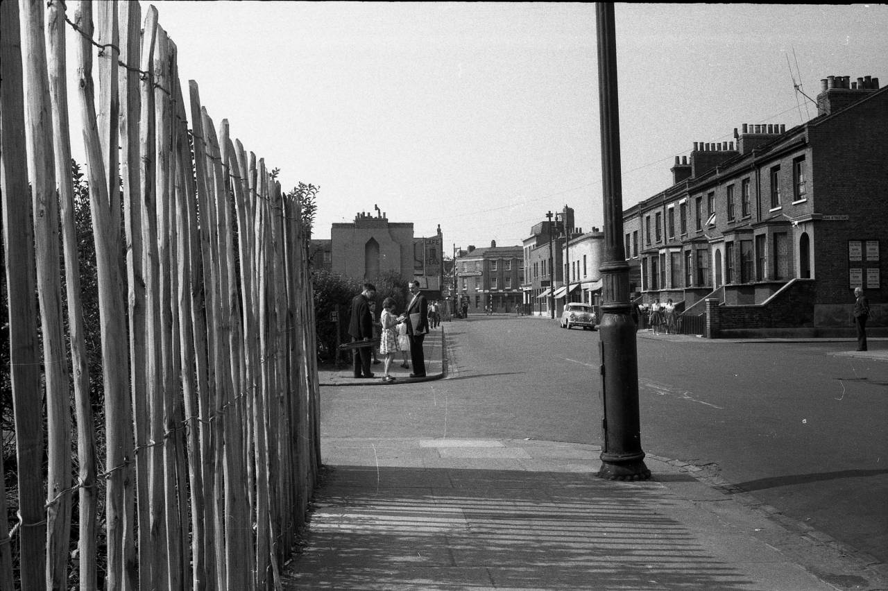 Parkgate Road, Battersea. You can see the road sign on the corner of Elcho Street
