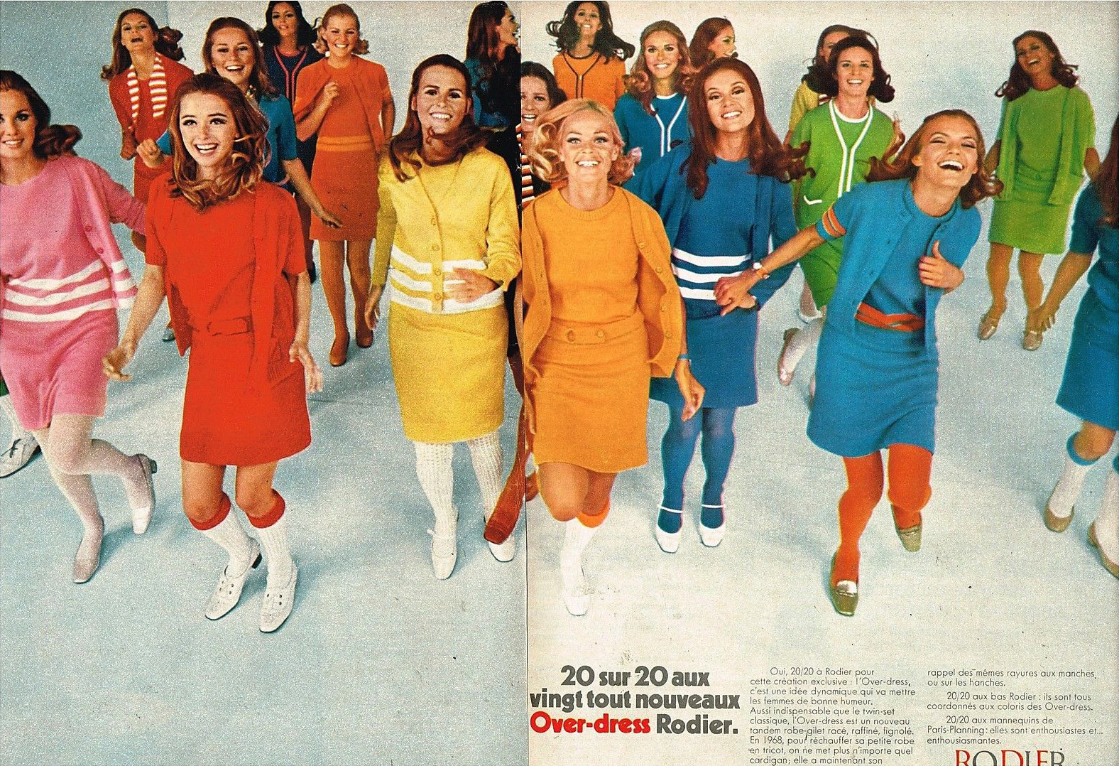 Publicité Advertising 1968 (2 pages) Pret à porter vetements Rodier