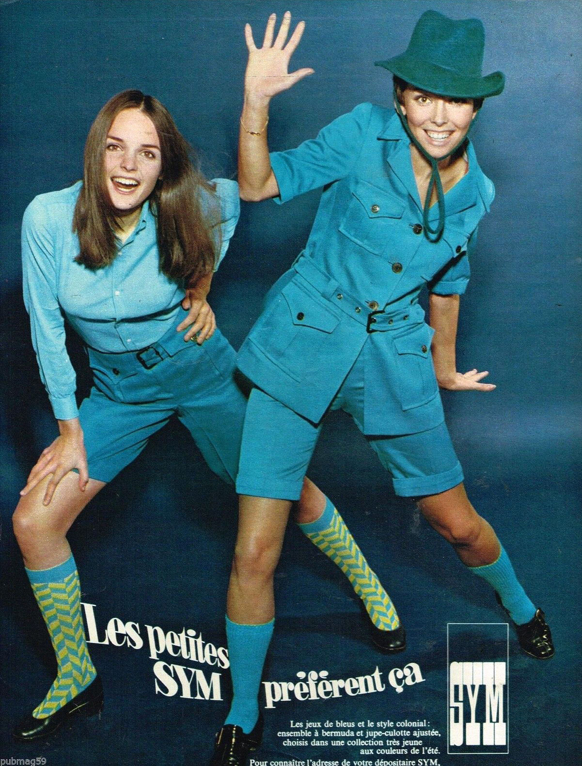 Publicité Advertising 1968 Pret à porter les vetements Sym