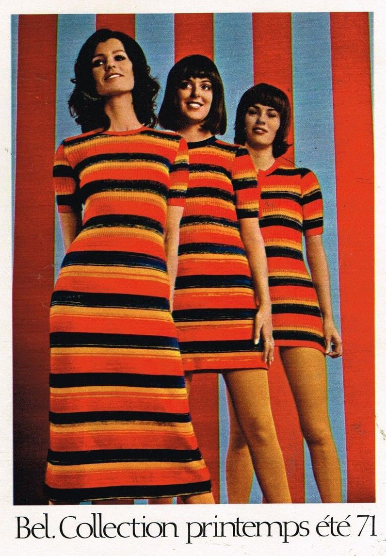 Publicité Advertising 1971 Pret à porter vetements Tricots robes Bel