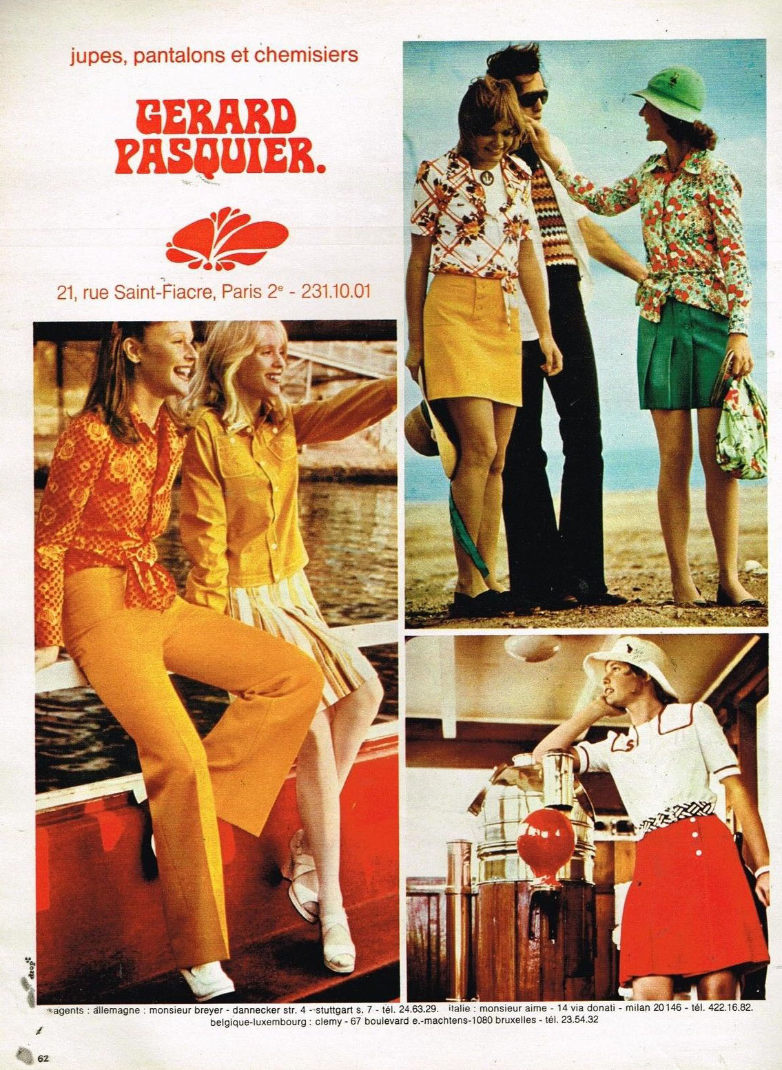 Publicité Advertising 1972 Pret à porter femme Vetements Gerard Pasquier