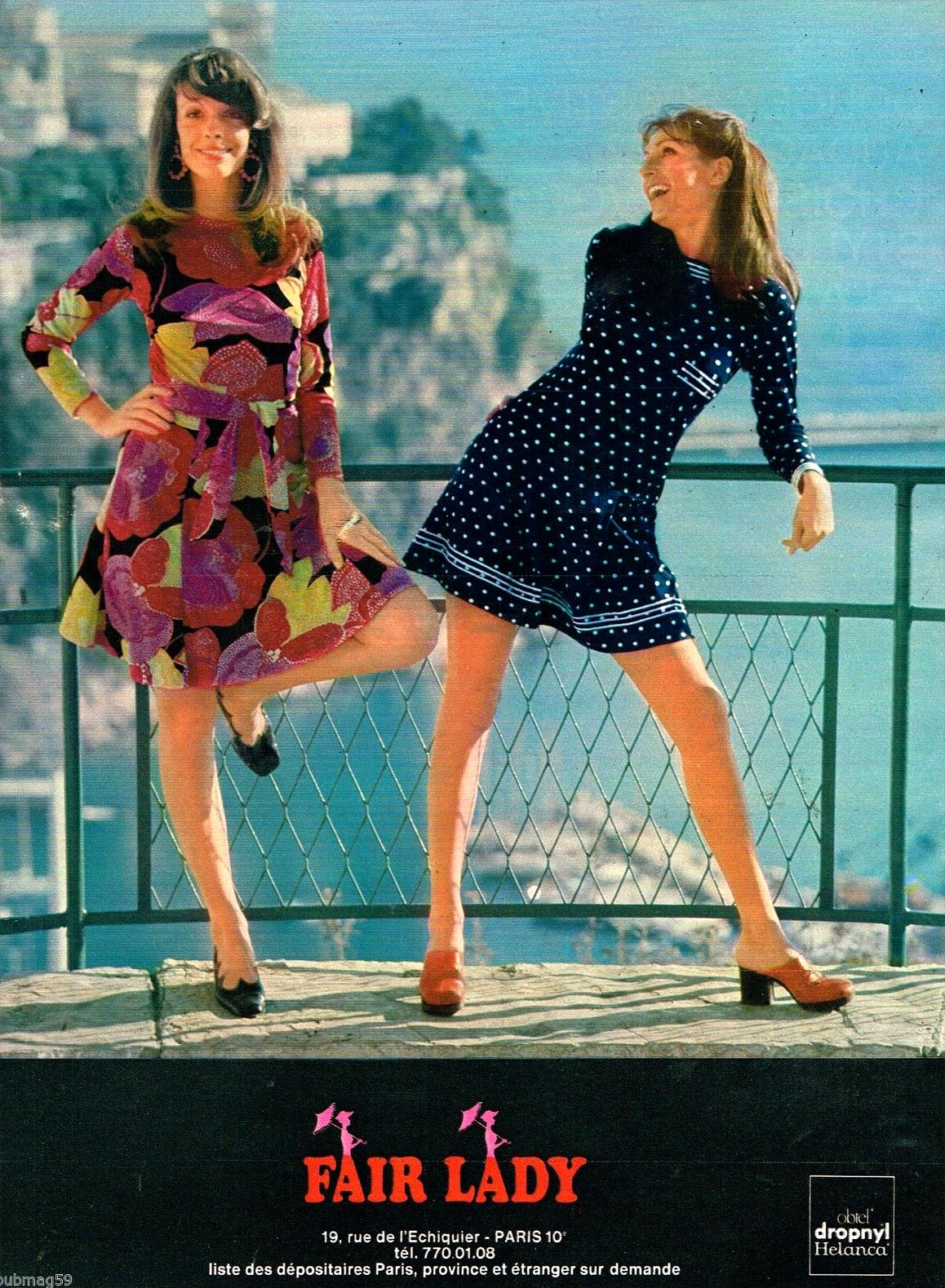 Publicité Advertising 1972 Pret à porter femme Vetements robes Fair Lady