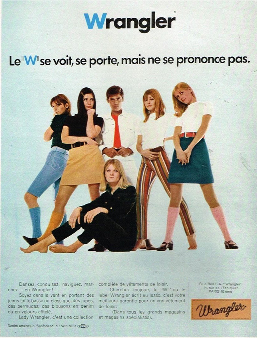 Publicité advertising 1968 Pret à porter vetements Wrangler