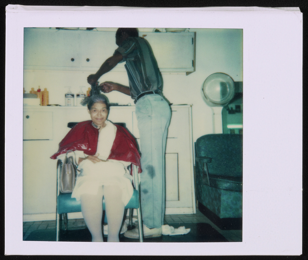 Rosa Parks at a beauty salon, Miami, Florida, August 14, 1986
