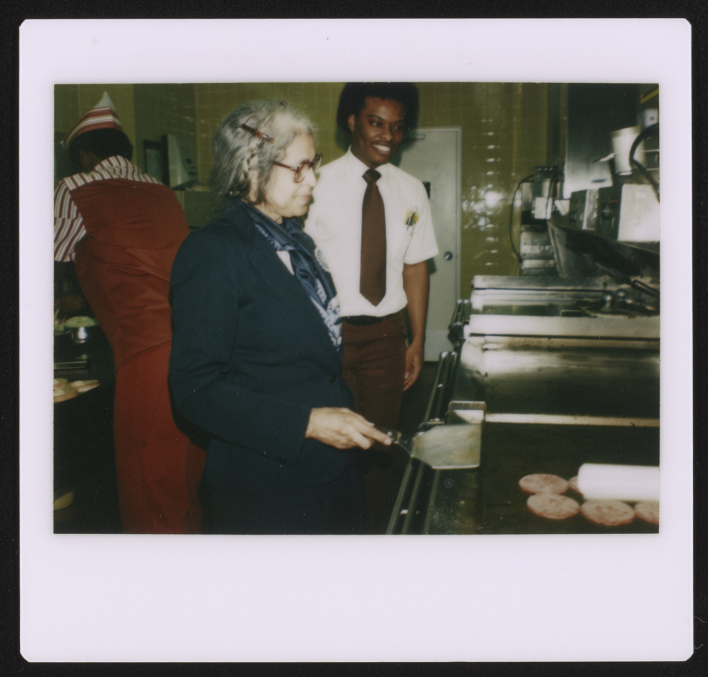 Rosa Parks cooking at a McDonald's restaurant grill