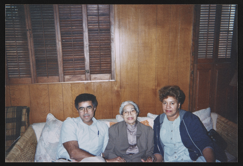 Rosa Parks with family