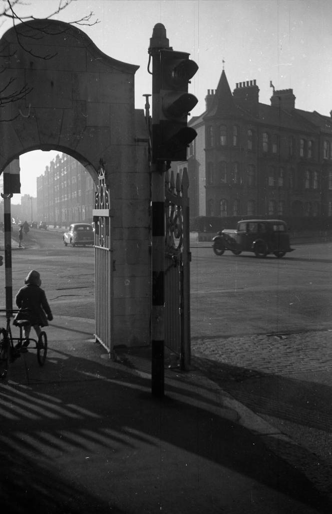 South-West corner of Battersea Park. A sunny winter day in the late 1950s