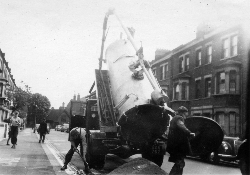 Street repairs, Battersea, some time in the 50s