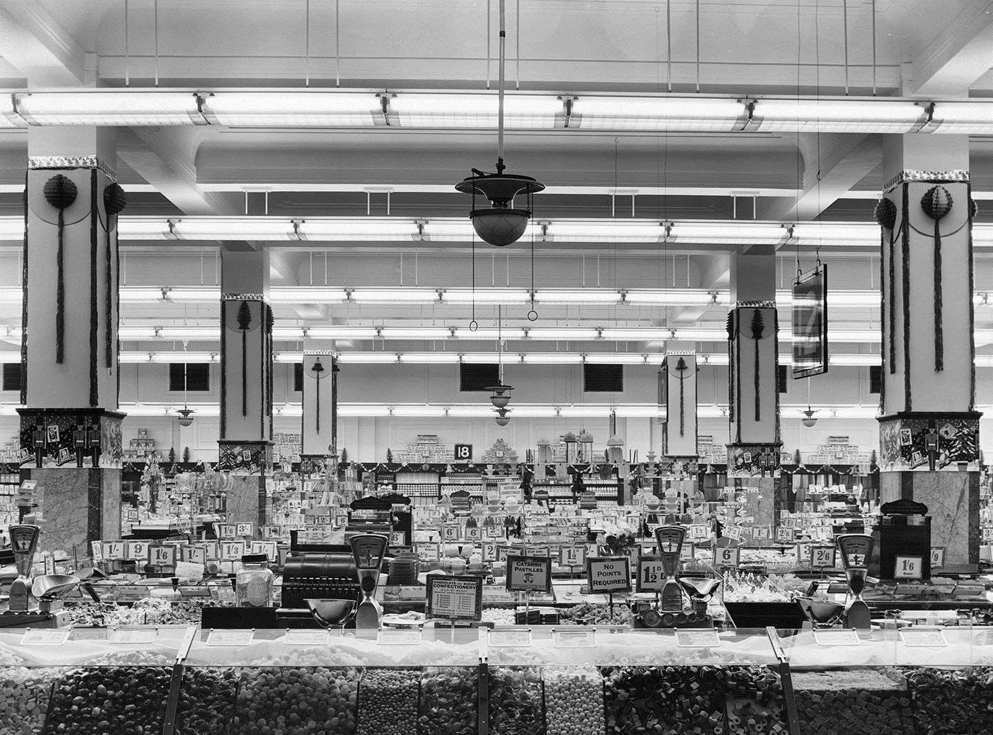 Sweet counter at the Woolworths on Oxford Street, December 1950