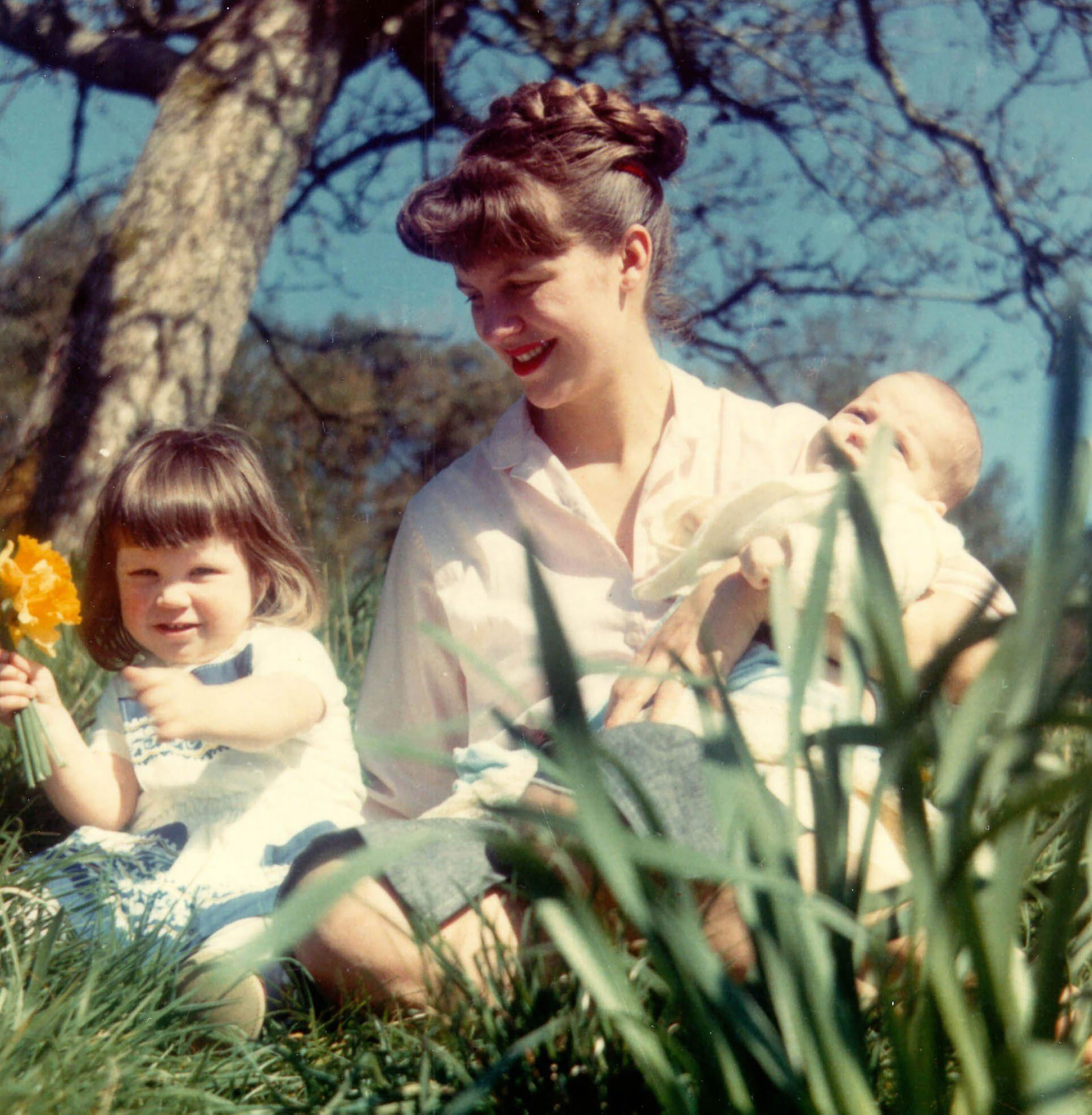 Sylvia Plath with her two children, Nicholas and Frieda, April 1962 Photograph: Siv Arb/Writer Pictures
