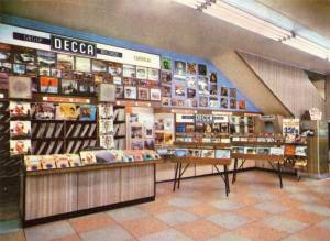 The 'Record Corner' tucked under the stairs in a Birmingham store in 1965