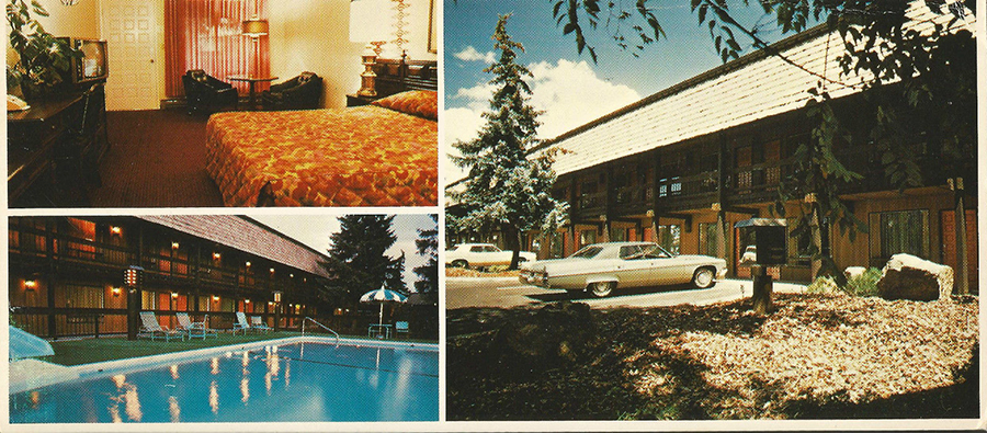 A look inside hotel motel rooms of the 1950s 70s flashbak for Klamath falls hotels with swimming pool