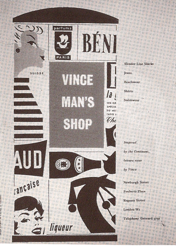 Vince men's shop London