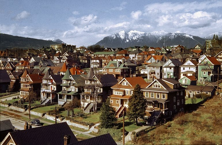 Westend from Burrard Bridge, 1957