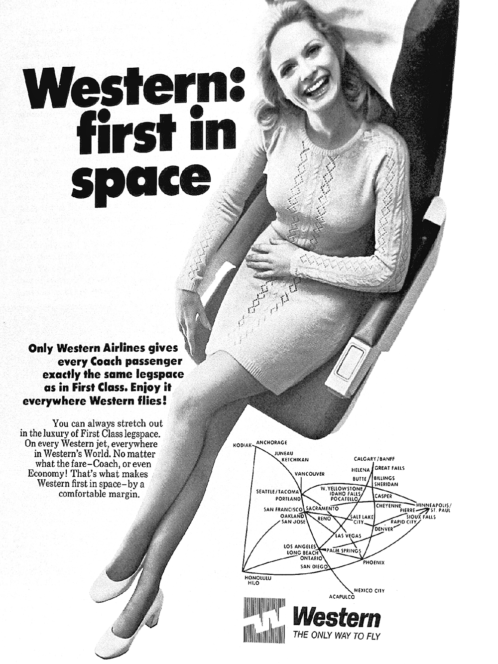 Western airline ad