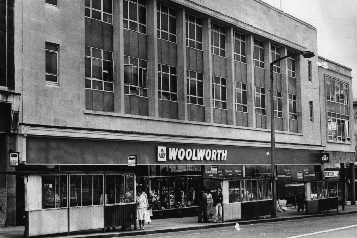 Woolworths in Sheffield in 1978.