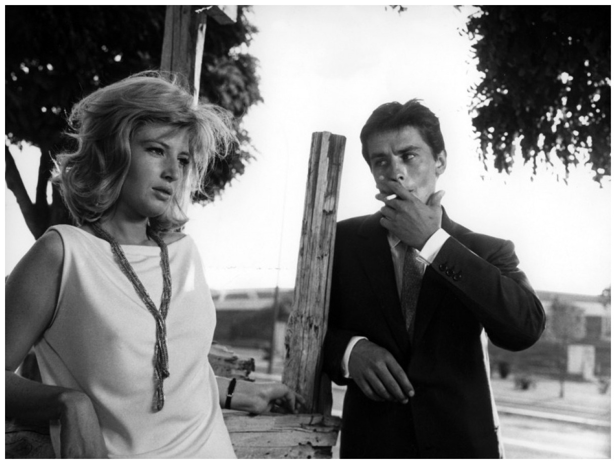 Alain Delon and Monica Vitti
