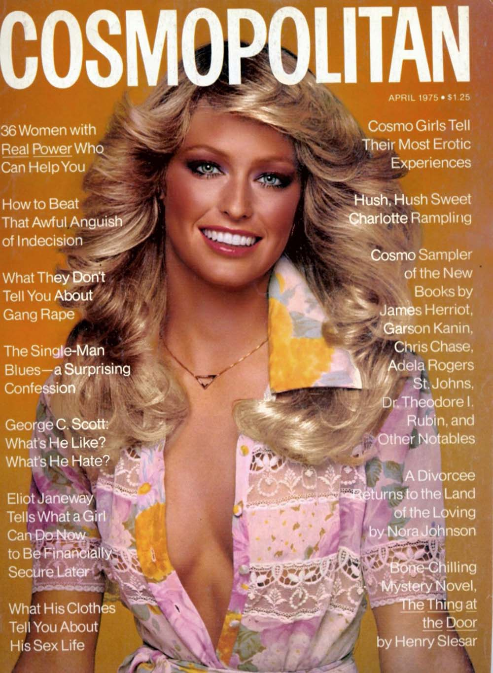 april 1975 Farrah Fawcett