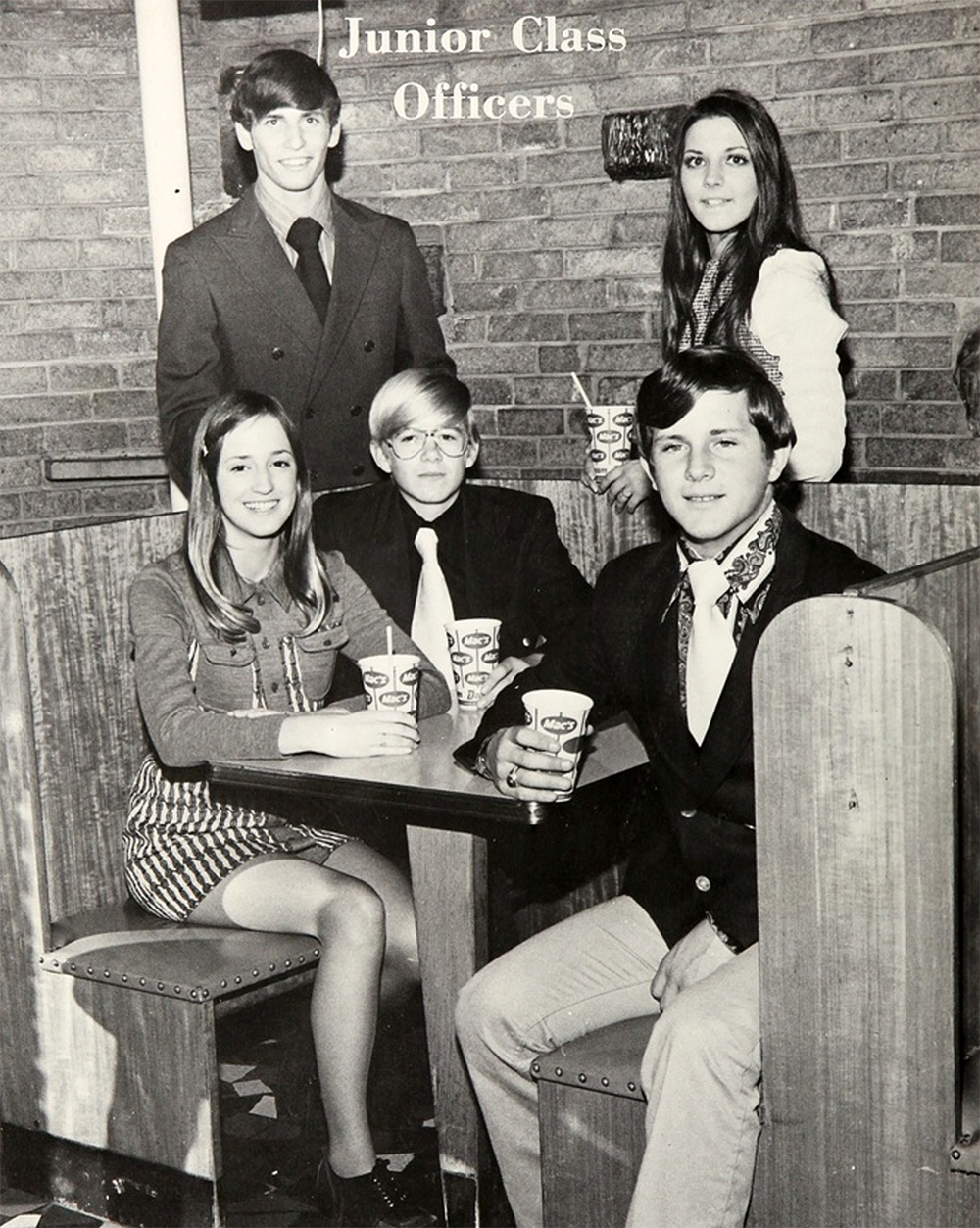 junior class officers 1970s yearbook