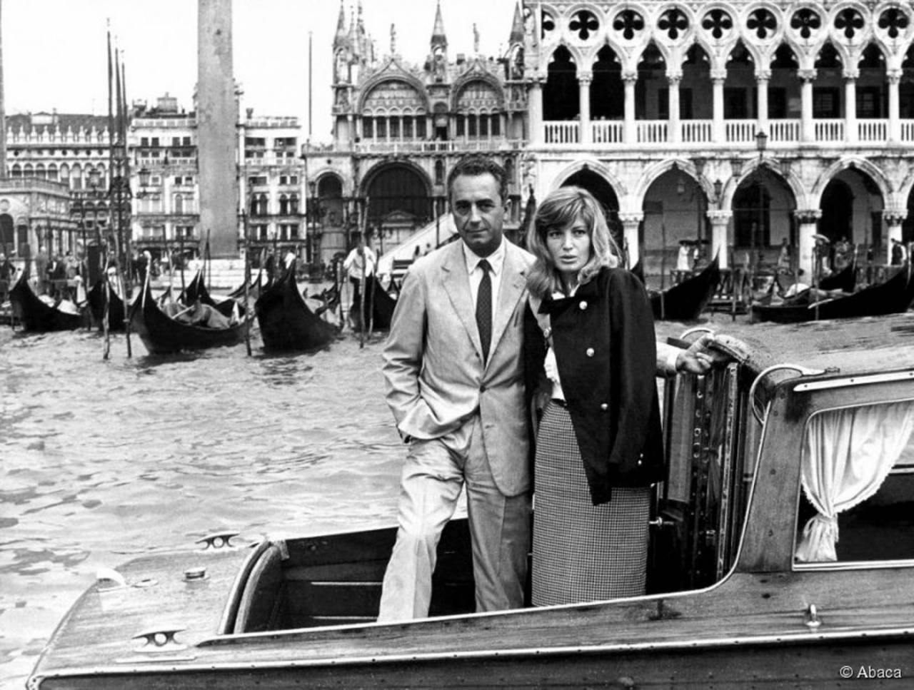 Antonioni Michelangelo and Monica Vitti in Venice