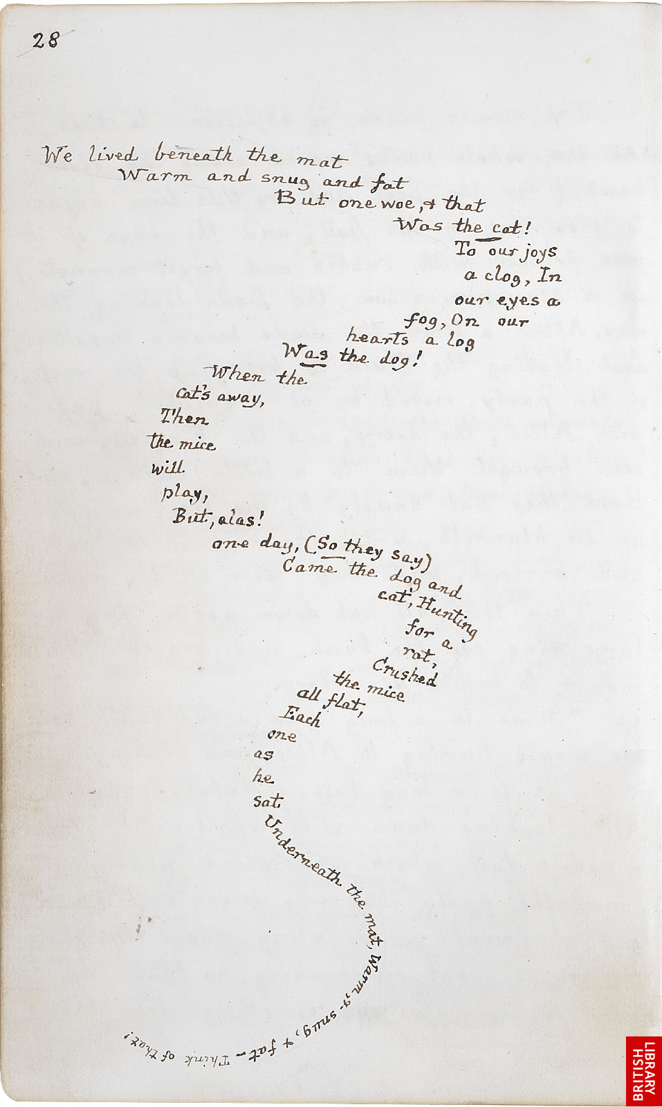 alice in wonderland writing style