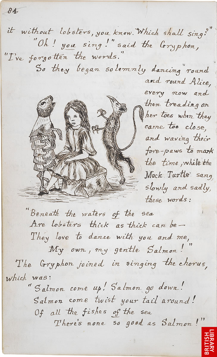 Lewis Carroll S Original Illustrations For Alice S Adventures In Wonderland 1864