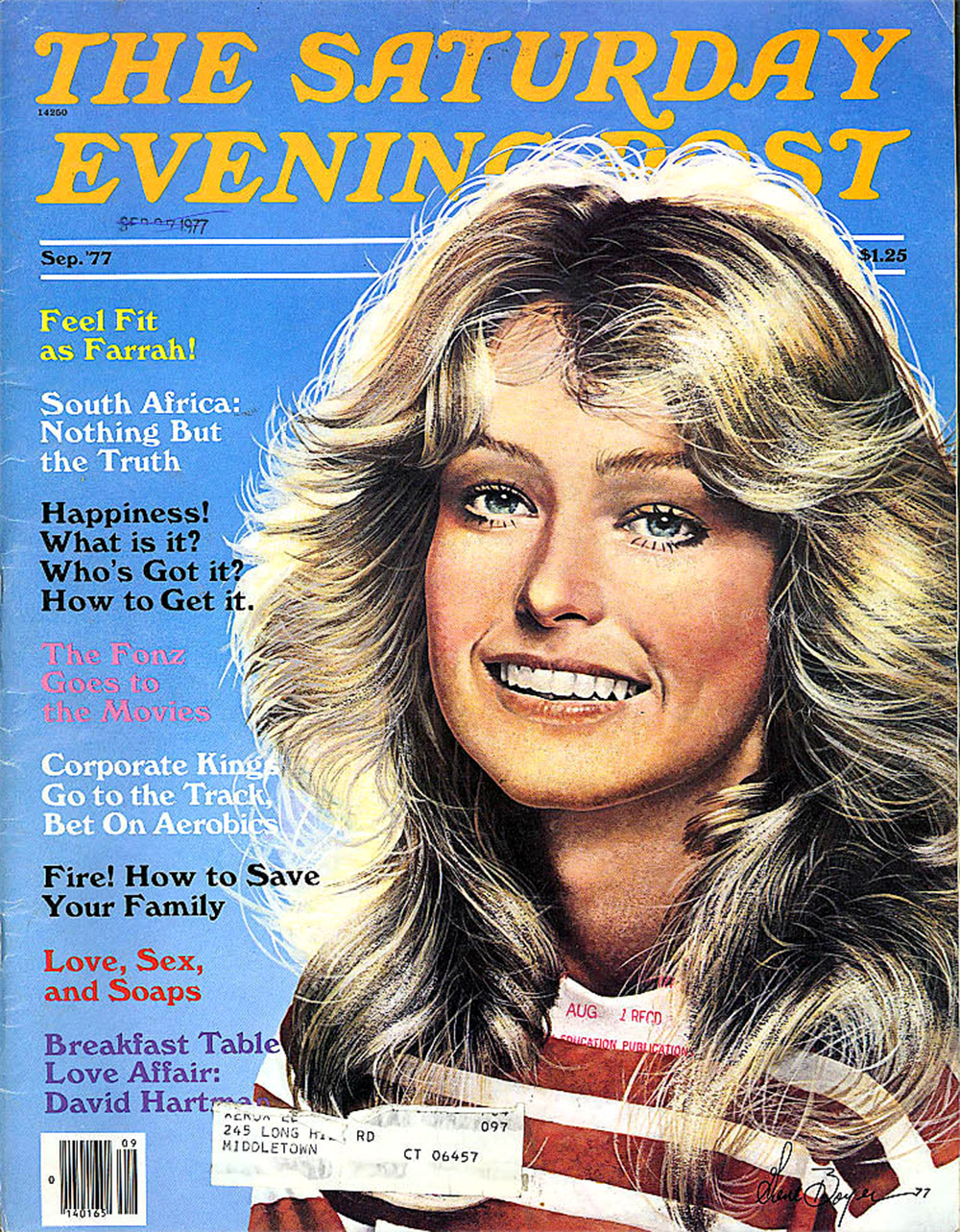 saturday evening post Farrah Fawcett 1977