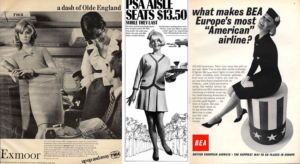 stewardess advertising vintage