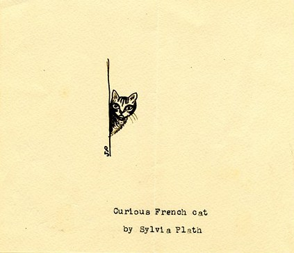 sylviaplath art curious french cat
