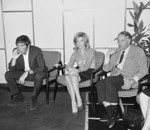 Terence Stamp, Monica Vitti and Joseph Losey