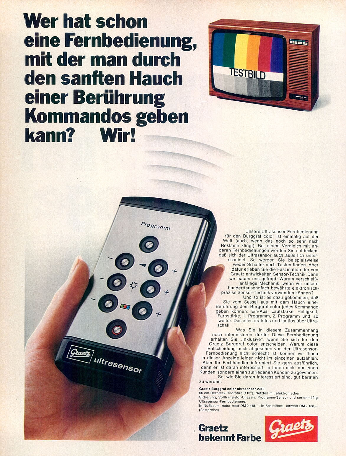 tv remote vintage ad