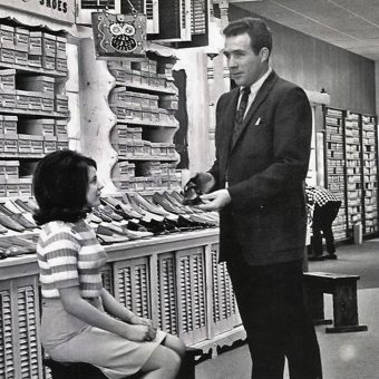 Vintage Images of Women Shoe Shopping (And The Humble Salesmen That Served Them)