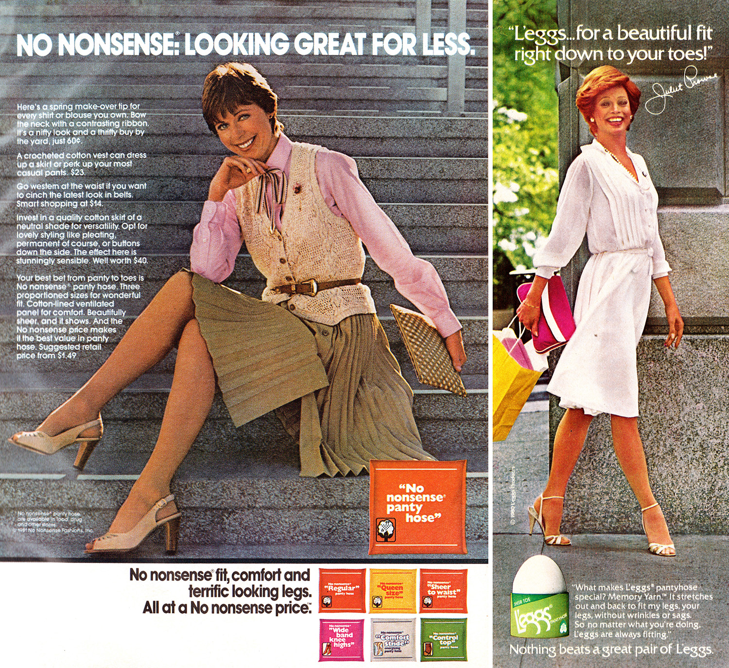 1981 hosiery adverts