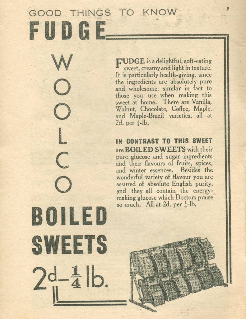 Fudge ad woolworths thirties