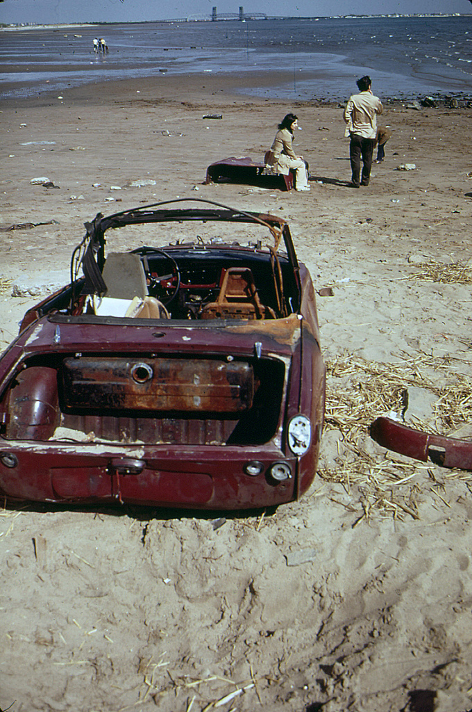 Plum Beach near Sheepshead Bay in Brooklyn. May 1973