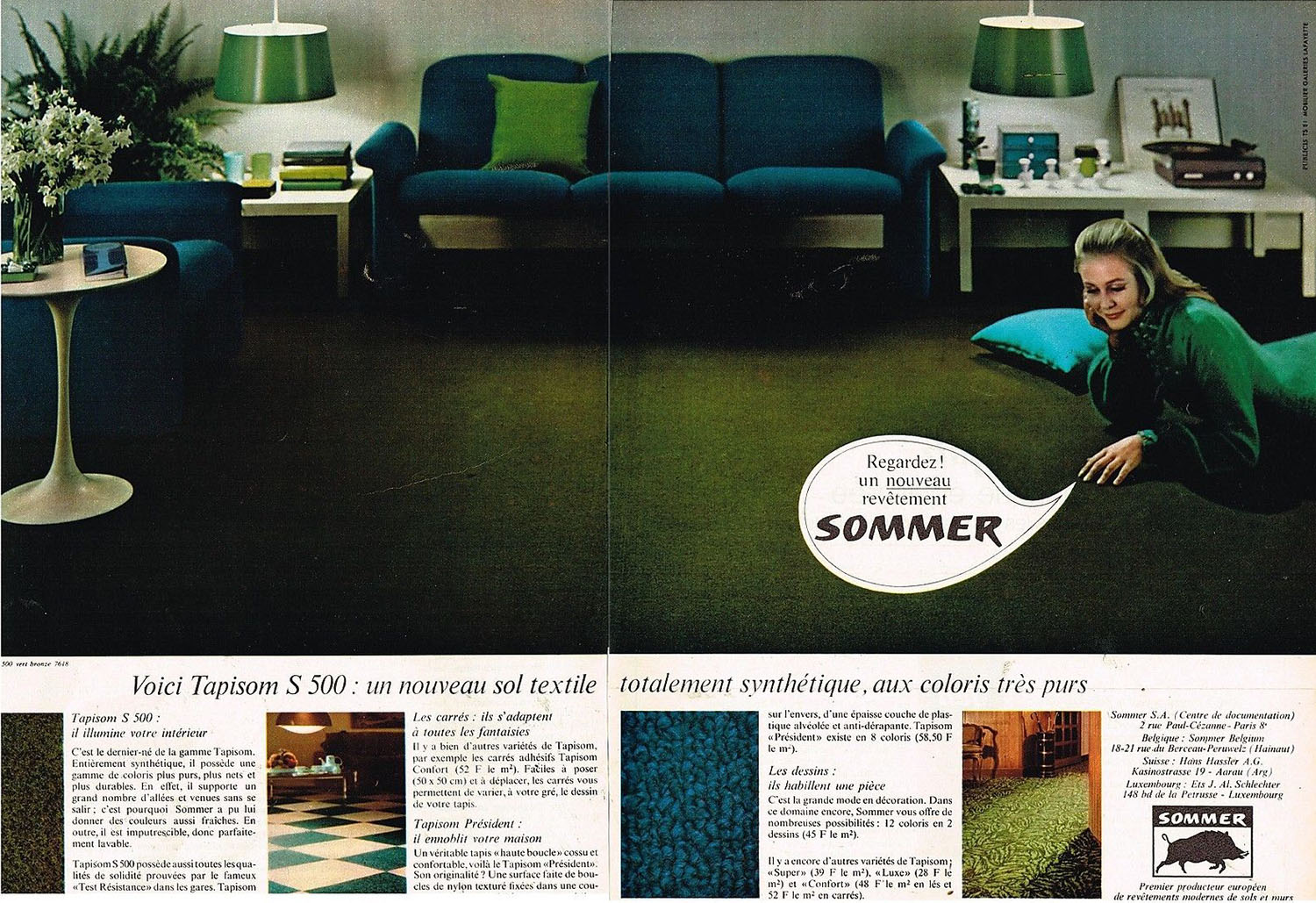 Publicité Advertising 1968 (2 pages) Le Revetement de sol Sommer