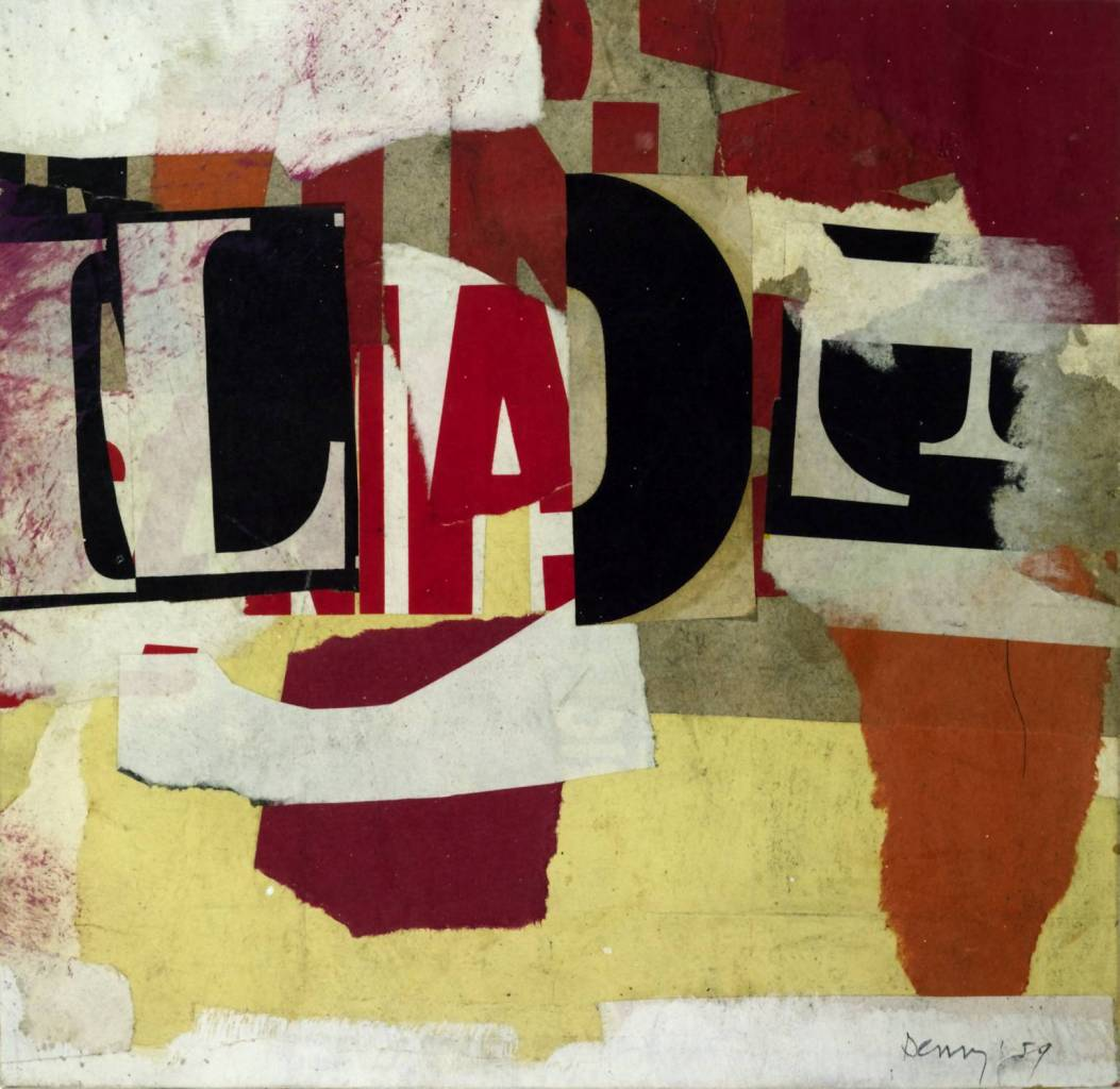 Collage Austin Reed Version I 1959 By Robyn Denny Born 1930 Flashbak